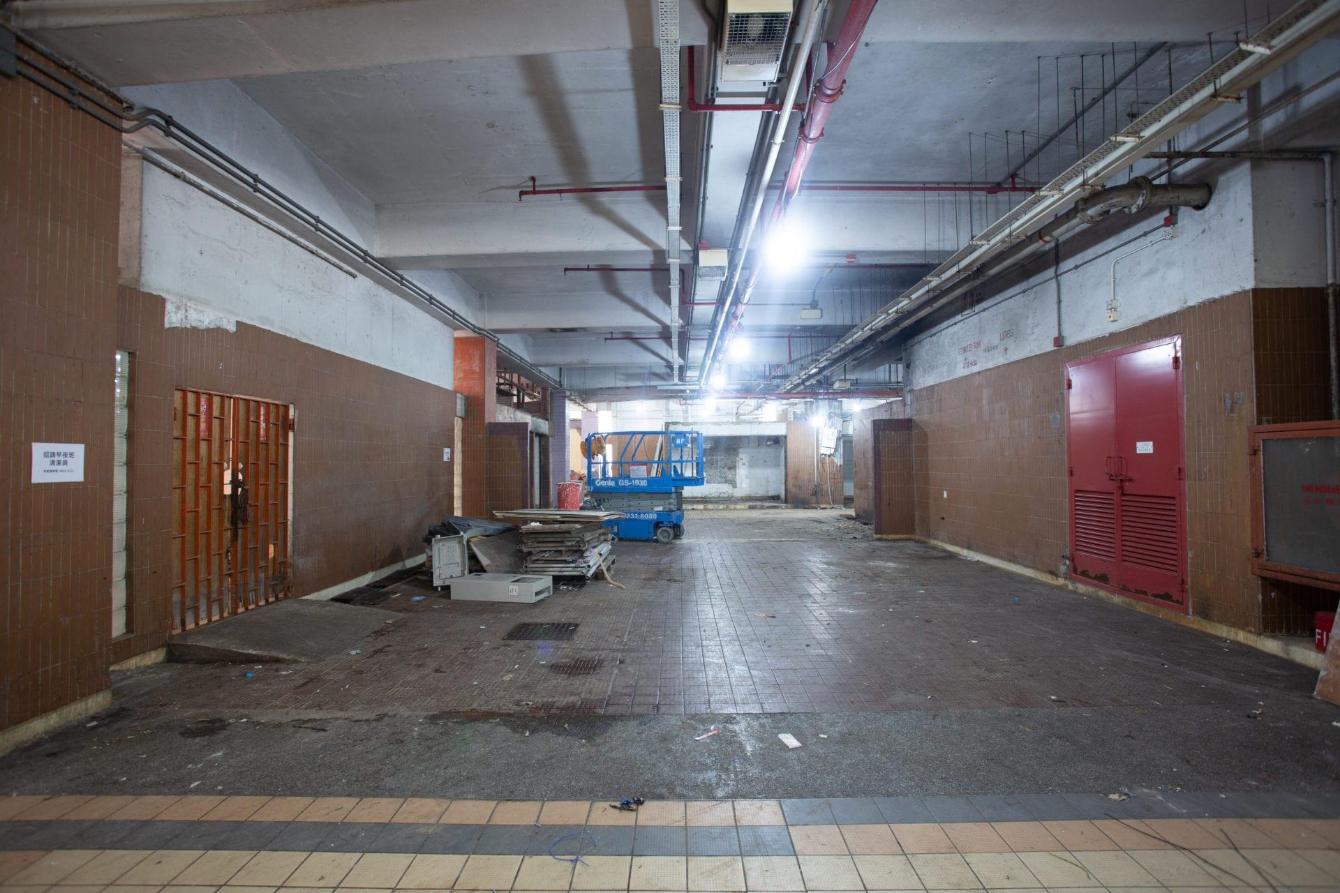 Before-wet market interior