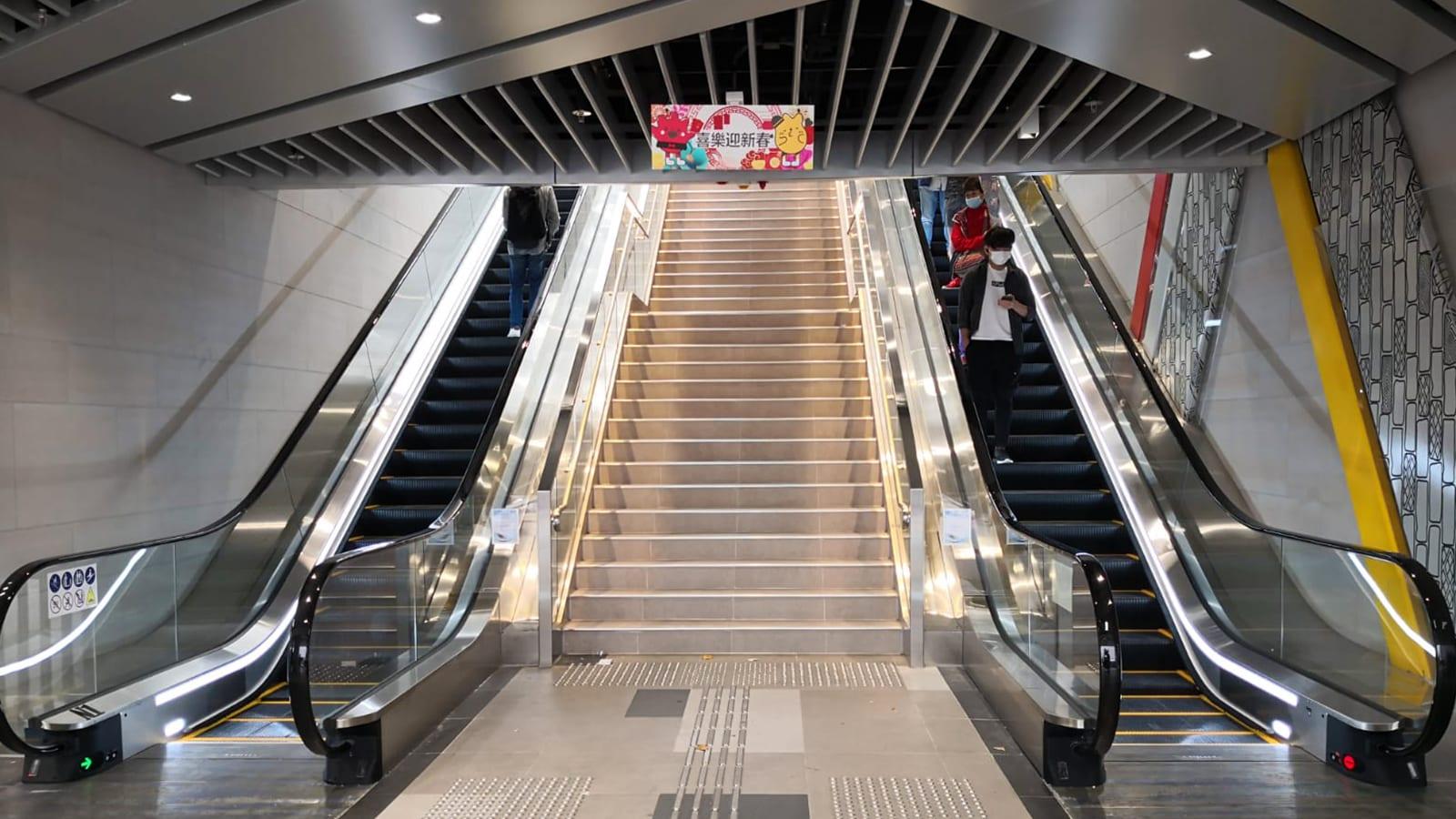 After-escalator