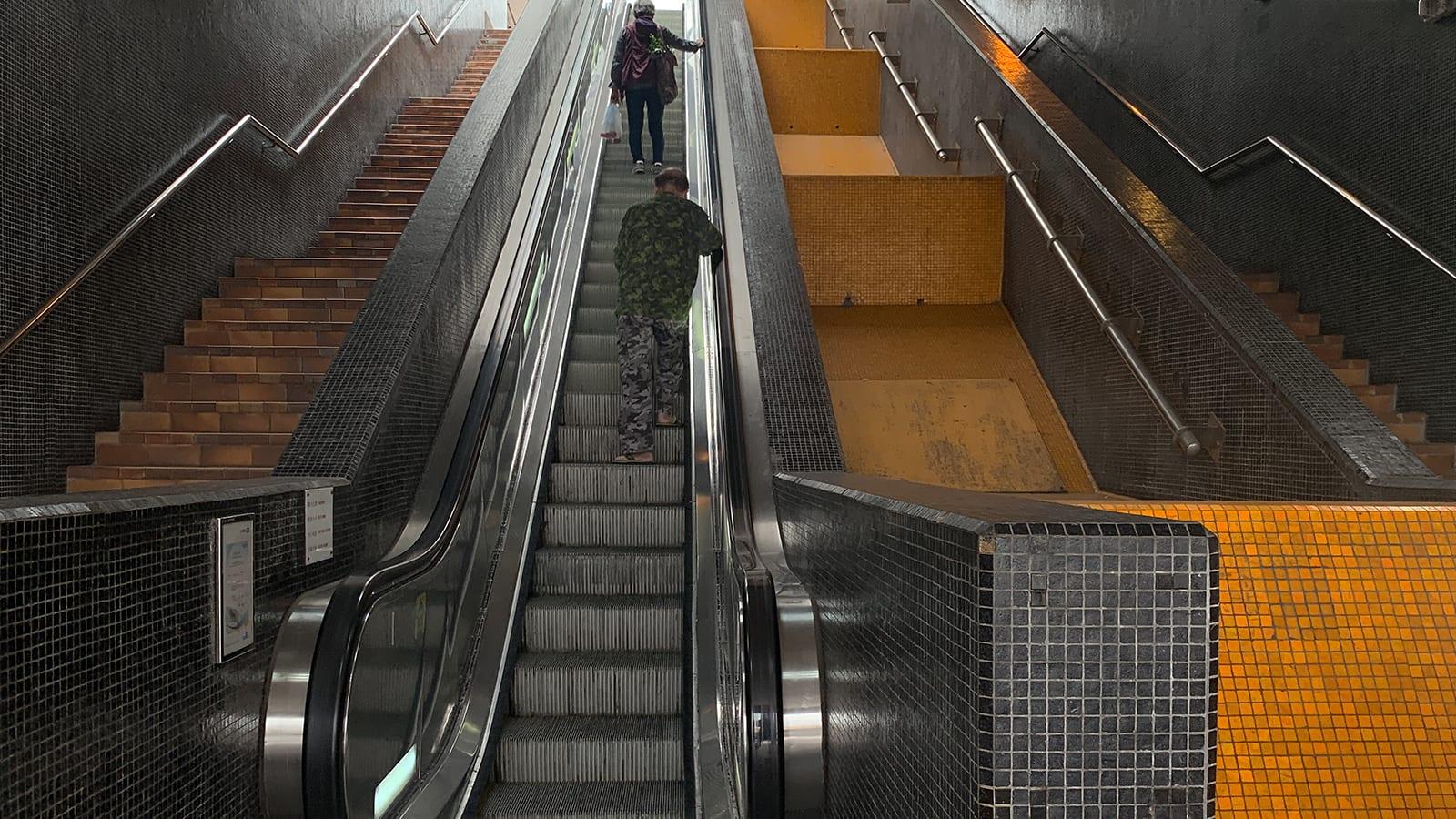 Before-escalator